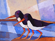 Oystercatcher Framed Prints - Oystercatcher Couple Framed Print by Lutz Baar