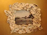Shell Ceramics - Oystered picture frame by Pendleton Malphrus