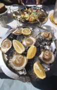 Croisette Photos - Oysters on the Half Shell by Erik Falkensteen