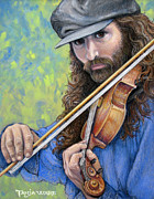 Violin Pastels - Ozark Music Man by Tanja Ware