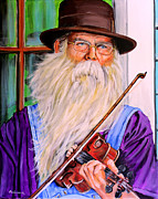 Player Originals - Ozarks Fiddle Player by Karl Wagner