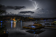 Lightning Digital Art - Ozarks Lightning Show 1 by Austin Smith