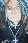 Heavy Metal Paintings - Ozzy  by Jon Baldwin  Art