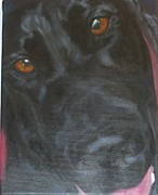Black Lab Mixed Media - Ozzy by M J Venrick
