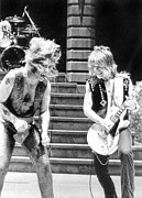 Music Metal Prints - Ozzy Osbourne And Randy Rhoads, C. 1981 Metal Print by Everett
