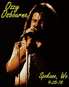 Concert Photos Art - Ozzy Osbourne in Spokane 2 by Ben Upham