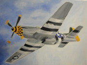 James Lopez - P-51 in the clouds