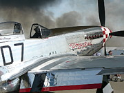 Mark Lehar Prints - P-51 Worry Bird Print by Mark Lehar