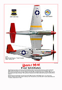 332nd Acrylic Prints - P-51C Daisy Mae Acrylic Print by Jerry Taliaferro