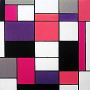 Rectangles Paintings - P Cubed by Oliver Johnston