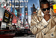Rap Mixed Media Posters - P Diddy Poster by The DigArtisT