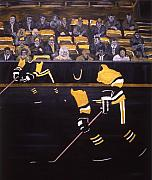 Hockey Paintings - P P by Yack Hockey Art
