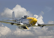 Aircraft Posters - P51 Ferocious Frankie Poster by Pat Speirs