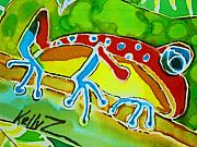 Reptiles Tapestries - Textiles - Pa Froggy by Kelly     ZumBerge