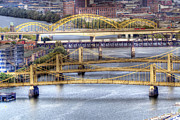 Roberto Clemente Bridge Framed Prints - PA0008 Pittsburgh 8 Framed Print by Steve Sturgill