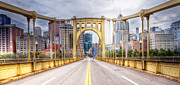 Roberto Clemente Bridge Framed Prints - PA0010 Pittsburgh 10 Framed Print by Steve Sturgill