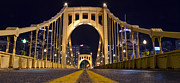 Clemente Photo Acrylic Prints - PA0011 Roberto Clemente Bridge Pittsburgh Acrylic Print by Steve Sturgill