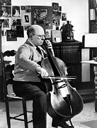 Pablo Prints - Pablo Casals, Ca.1955. Practicing Print by Everett
