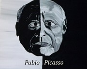 Pablo Picasso Digital Art Prints - Pablo Picasso Print by Mark Moore