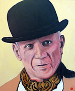 Picasso Paintings - Pablo Picasso by Tom Roderick