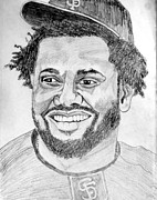 Mvp Drawings Prints - Pablo Sandoval - Kung Fu Panda Print by Donald William