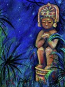 Statue Pastels Prints - Pablo Print by Tania Williams