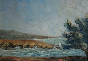 Cambria Paintings - Pacific Air Cambria Coast by Edward White