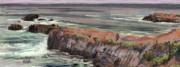 Pacific Coastal Panorama Print by Donald Maier