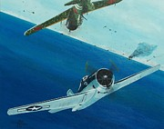Carrier Painting Originals - Pacific Duel by Gene Ritchhart