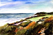 Pacific Dunes Golf Course Print by Marti Green