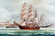 Tall Ship Image Posters - Pacific Fleet Poster by James Williamson