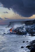 Dave Fleetham Framed Prints - Pacific Lava Flow Framed Print by Dave Fleetham - Printscapes