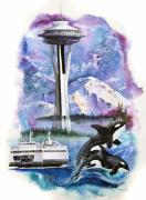 Whale Mixed Media - Pacific Northwest Montage  by Sherry Shipley