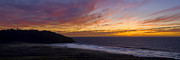 Pacific Sunset At Point Sur Print by Steven Wynn