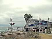 San Clemente Framed Prints - Pacific Surfliner Amtrak Train Framed Print by Traci Lehman