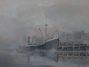 Fog Paintings - Pacific Trader by Christopher Jenkins