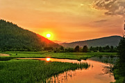 Clark Fork - Id - Pack River Delta Sunset by Albert Seger