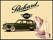 Retro Pinup Prints - Packard 1951 Print by Cinema Photography