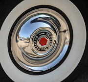 Wheel Framed Prints Posters - Packard Hub Cap Poster by Brian Mollenkopf