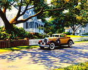 Packard Framed Prints - Packard on Captains Row Framed Print by Frank Dalton