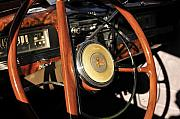 Antic Car Framed Prints - Packard Steering Wheel Framed Print by David Lee Thompson