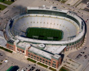 Green Bay Prints - Packers Lambeau Field Print by Bill Lang