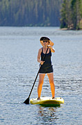 Stand Up Paddle Board Photos - Paddle Board by Mark Weber