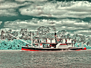 Paddle Steamer Print by Douglas Barnard