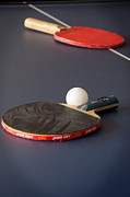 Ping Pong Art - Paddles and Ball by Frank Mari