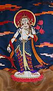 Chenrezig Prints - Padmapani Print by Leslie Rinchen-Wongmo
