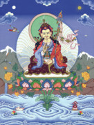 Tibetan Buddhism Paintings - Padmasambhava by Carmen Mensink
