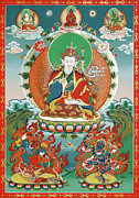 Indian Guru Framed Prints - Padmasambhava Framed Print by Sergey Noskov