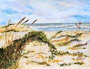 Sand Dunes Paintings - Padre Island Dunes by Karen Bradley