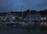 Cornwall Prints - Padstow Harbor at night Print by Kurt Van Wagner